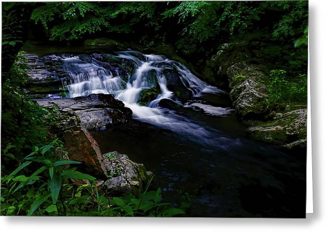 Small Waterfall  Greeting Card by Elijah Knight