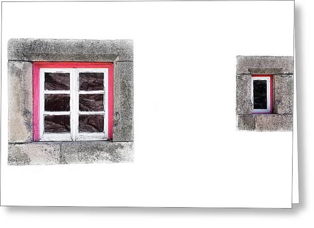 Small Window Greeting Card by Edgar Laureano