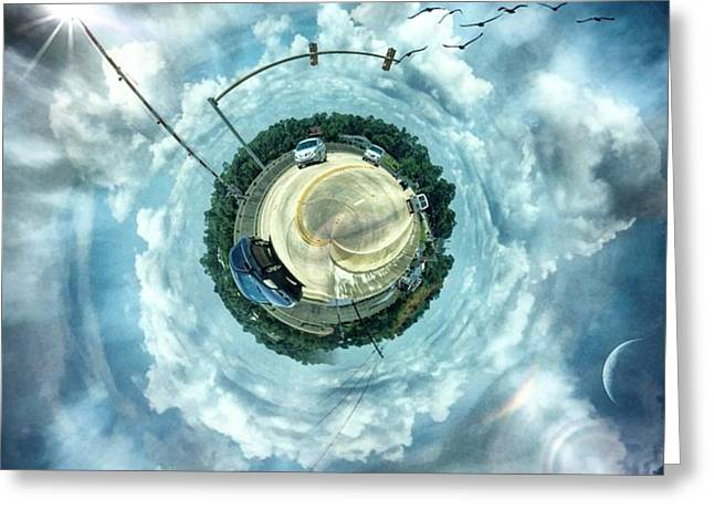 Small World #circular #tinyworld Greeting Card