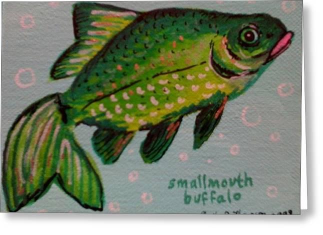 Smallmouth Buffalo Greeting Card by Emily Reynolds Thompson