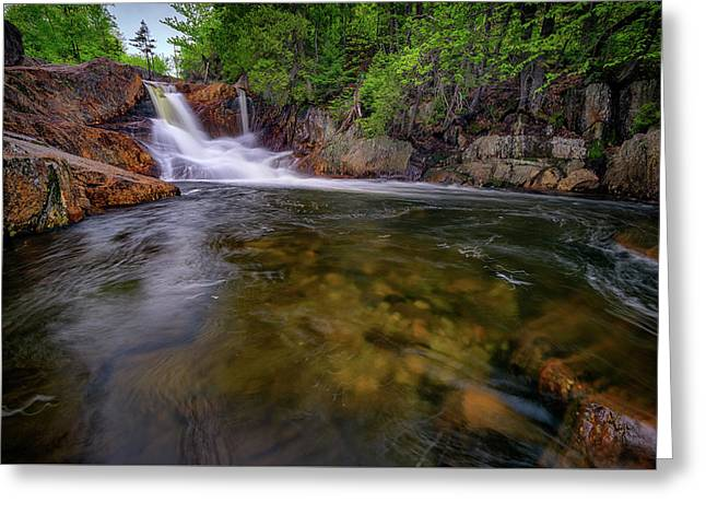 Smalls Falls And The Sandy River Greeting Card