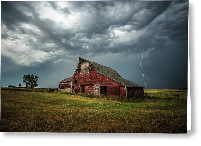 Greeting Card featuring the photograph Smallville by Aaron J Groen
