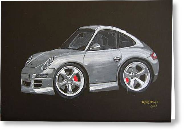 Smart Porsche Greeting Card by Richard Le Page