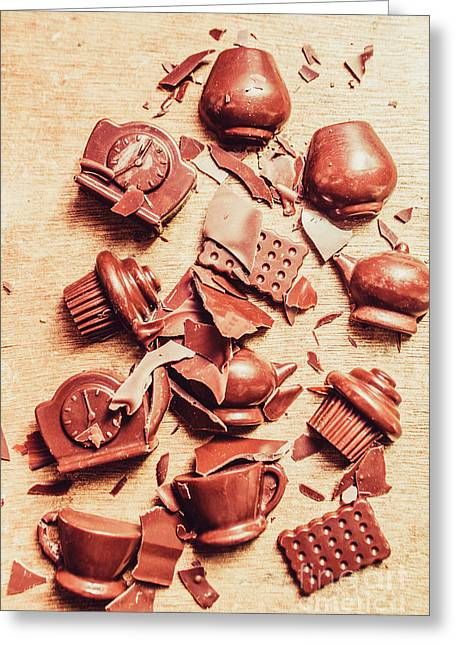 Smashing Chocolate Fondue Party Greeting Card by Jorgo Photography - Wall Art Gallery