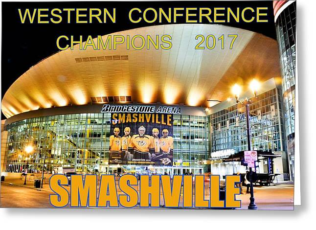 Smashville Western Conference Champions 2017 Greeting Card