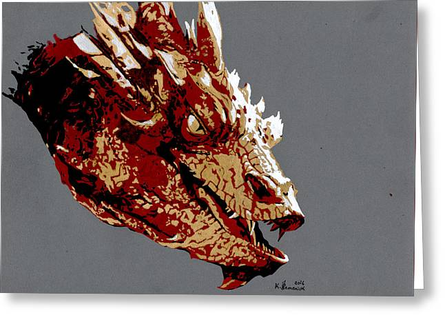 Smaug The Unassessably Wealthy Greeting Card by Kayleigh Semeniuk