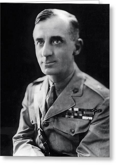 Smedley Butler - U. S. Marines General - 2 Time Medal Of Honor Recipient Greeting Card by Daniel Hagerman