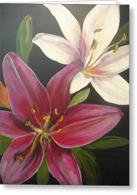 Smell The Lilies Greeting Card