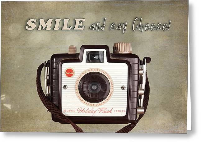 Smile And Say Cheese Greeting Card by Tom Mc Nemar