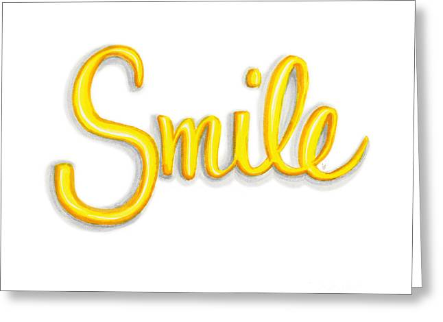 Smile Greeting Card by Cindy Garber Iverson