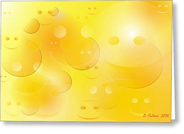 Smile Greeting Card by Denise Fulmer