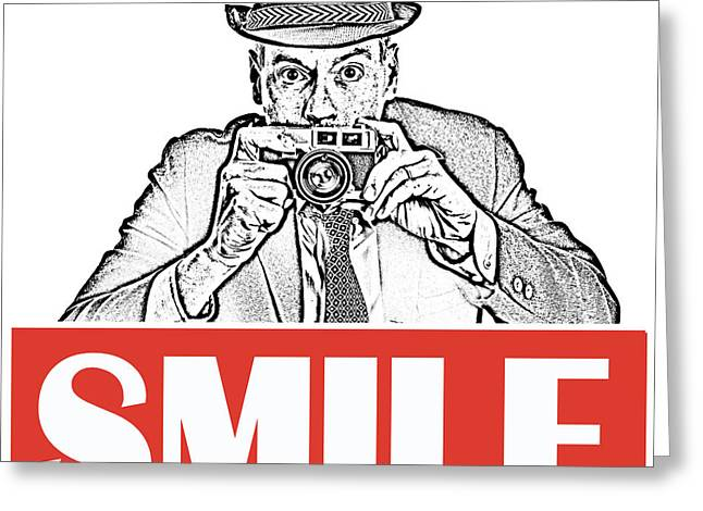 Smile Greeting Card by Edward Fielding