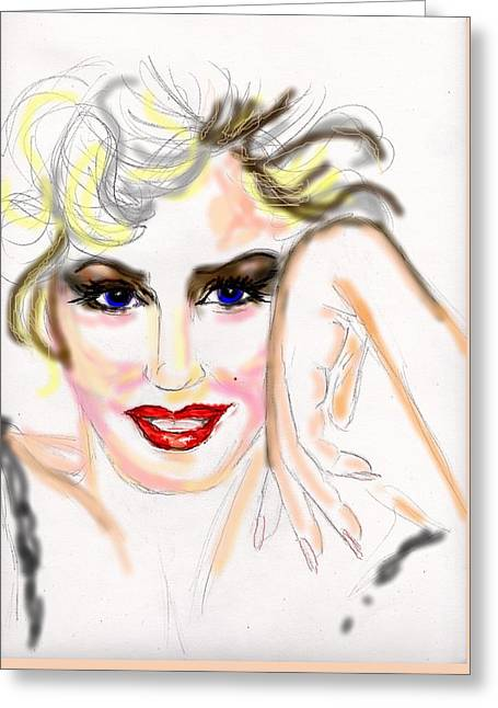 Smile For Me Marilyn Greeting Card