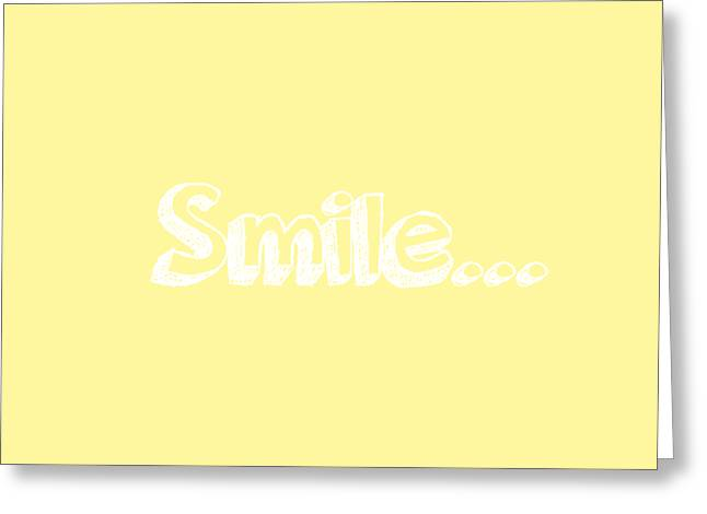 Smile Greeting Card by Inspired Arts