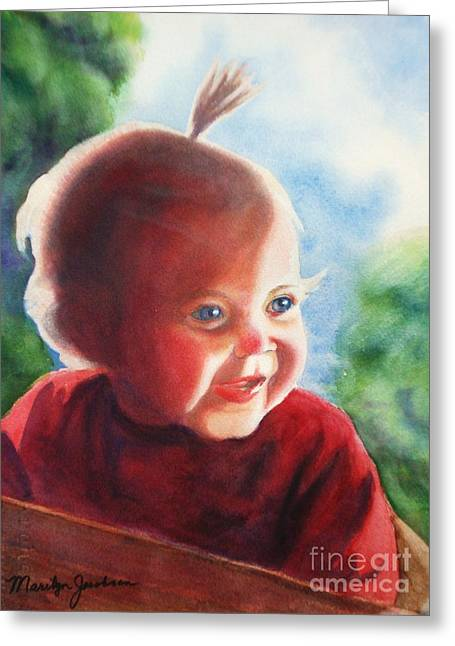 Greeting Card featuring the painting Smile by Marilyn Jacobson