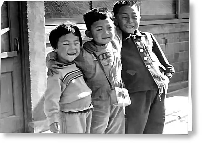 Smiles From Korea Year 1955 Greeting Card