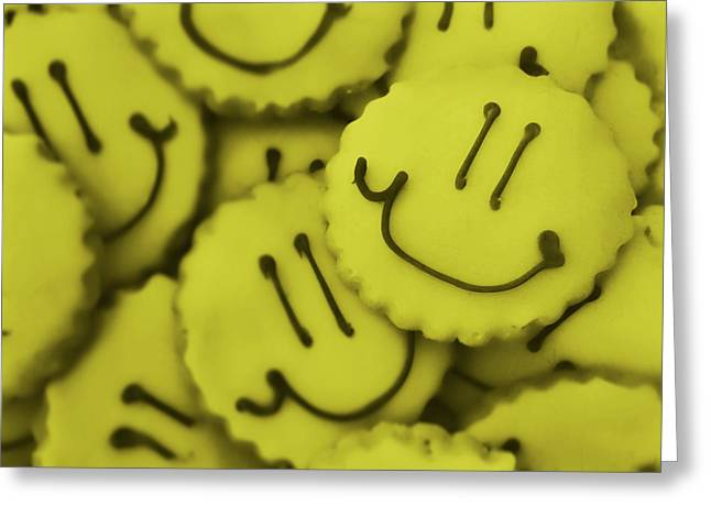 Smiley Face Greeting Card by JAMART Photography
