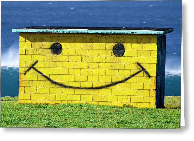 Smiley Shed Greeting Card by Sean Davey