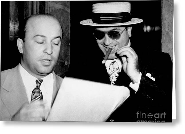 Smiling Al Capone Greeting Card by Jon Neidert
