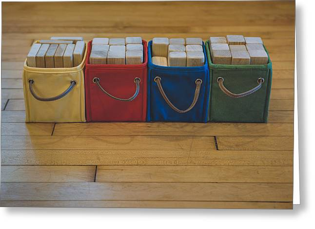 Smiling Block Bins Greeting Card