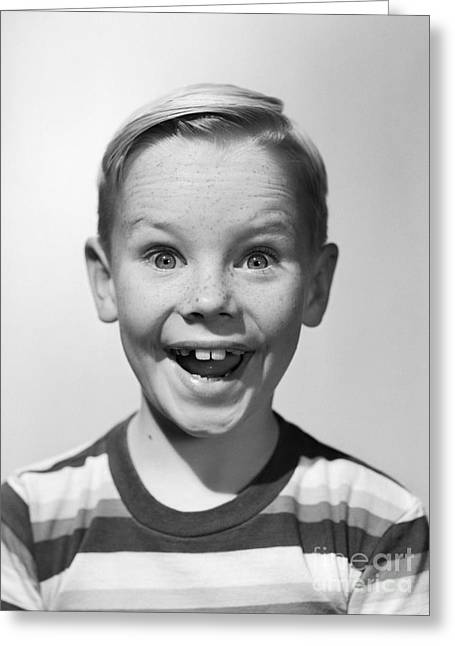 Smiling Boy, C.1950s Greeting Card