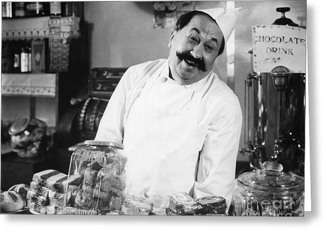 Smiling Chef At Diner, C.1930s Greeting Card by H. Armstrong Roberts/ClassicStock