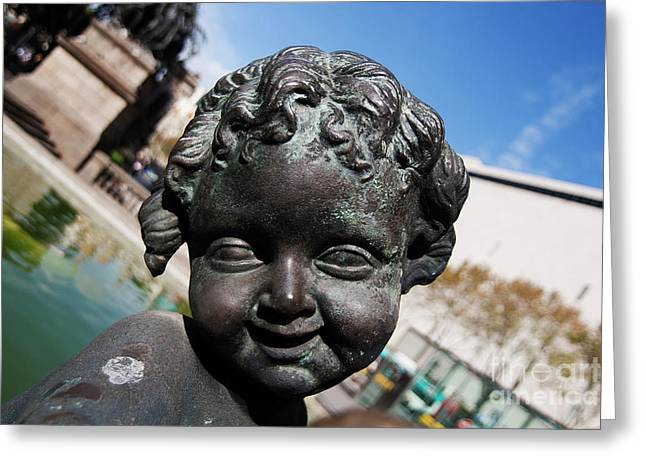Smiling Cherub Greeting Card
