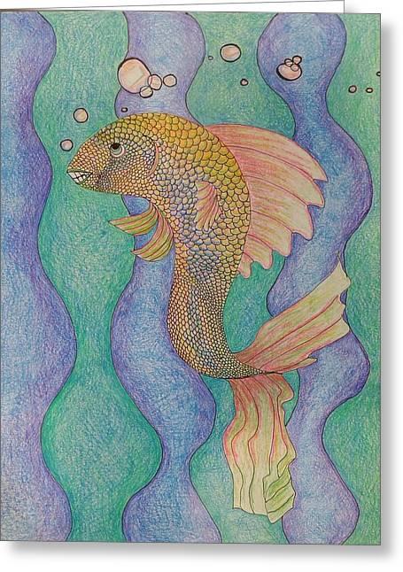 Smiling Fish  Greeting Card by Clara Brayton
