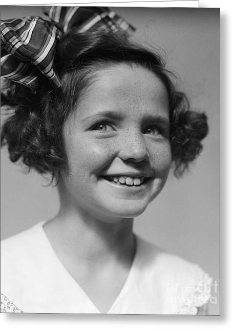 Smiling Girl, C.1930s Greeting Card by H. Armstrong Roberts/ClassicStock