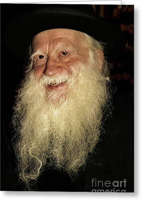 Smiling Picture Of Rabbi Yehuda Zev Segal Greeting Card