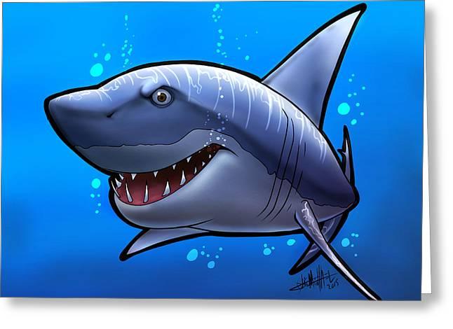 Smiling Shark Greeting Card