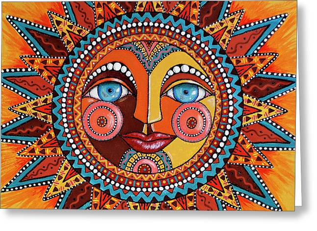Smiling Sun Greeting Card by Kay Larch