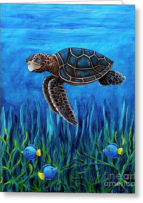 Smirking Turtle Greeting Card
