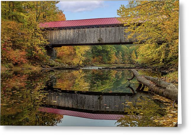 Smith Bridge Greeting Card by Capt Gerry Hare