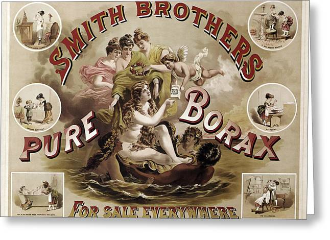 Smith Brothers Pure Borax C. 1880 Greeting Card by Daniel Hagerman