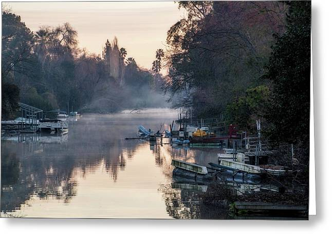 Smith Canal In Winter Greeting Card by Terry Davis