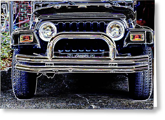 Smith Countyjeep Art Neon Greeting Card