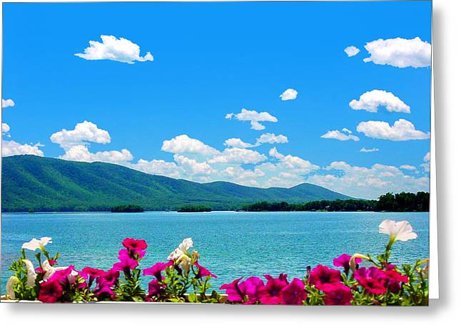Smith Mountain Lake Grand View Greeting Card by The American Shutterbug Society