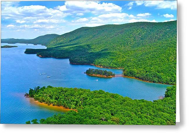 Smith Mountain Lake Poker Run Greeting Card