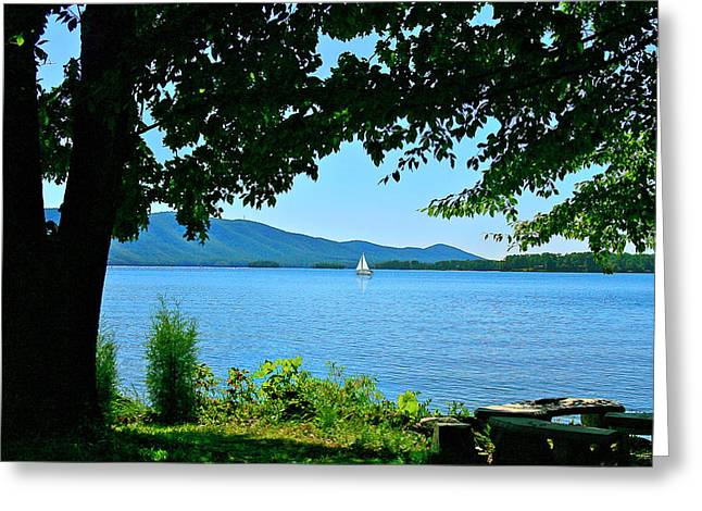 Smith Mountain Lake Sailor Greeting Card by The American Shutterbug Society