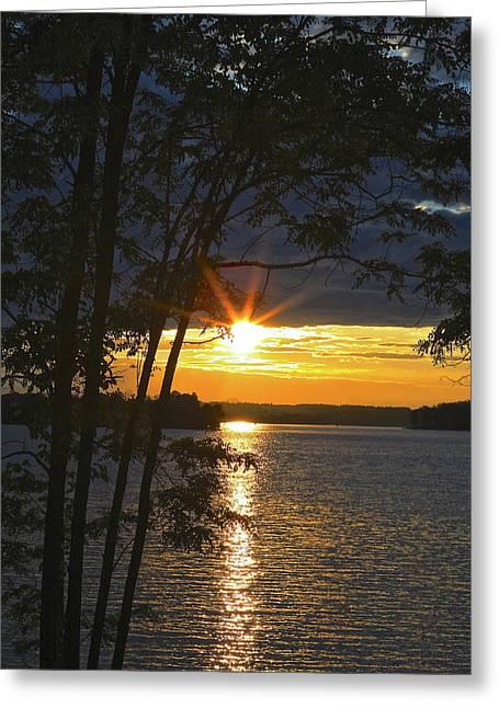 Smith Mountain Lake Summer Sunet Greeting Card
