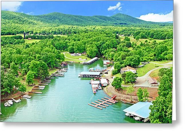 Smith Mountain Lake, Virginia. Greeting Card