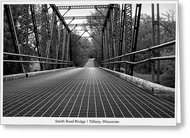 Smith Road Bridge  Greeting Card by Viviana  Nadowski