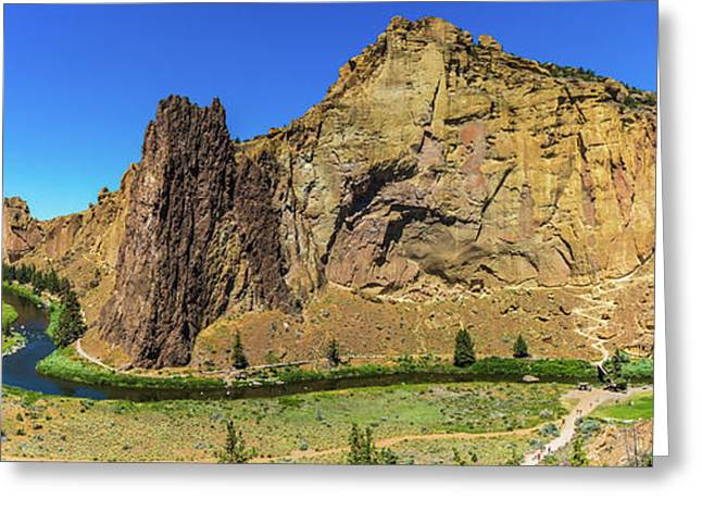 Greeting Card featuring the photograph Smith Rock by Jonny D