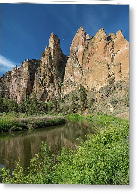 Smith Rock Spires Greeting Card by Greg Nyquist