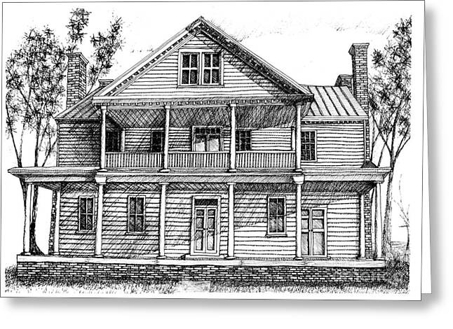 Smithfield Virginia House Renovation Greeting Card by Dawn Boyer
