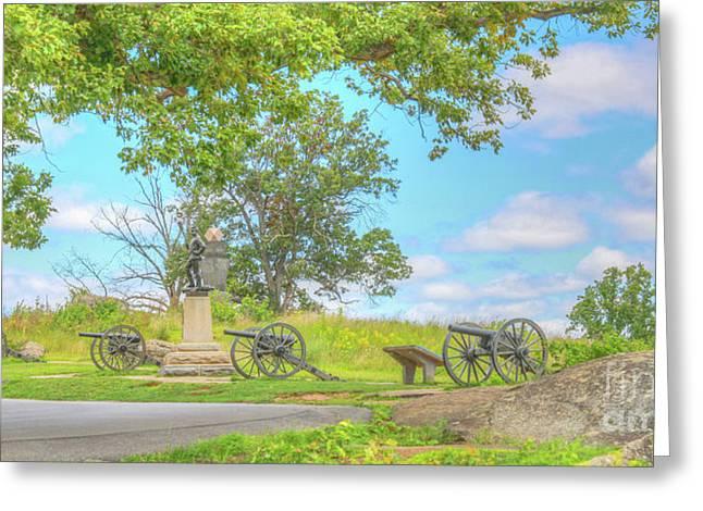 Smiths Battery Devils Den Gettysburg Greeting Card by Randy Steele