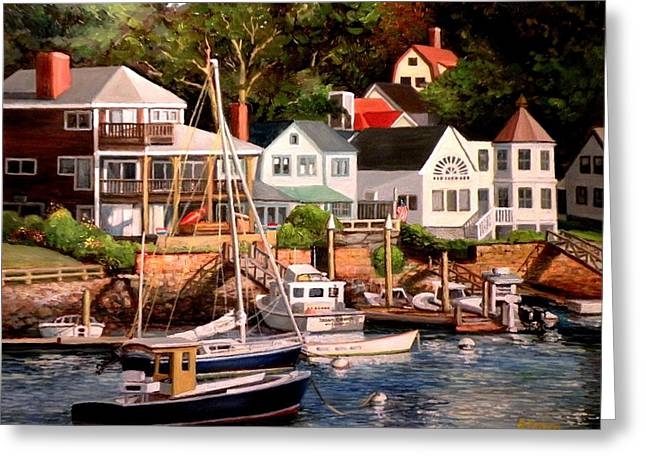 Smiths Cove Gloucester Greeting Card
