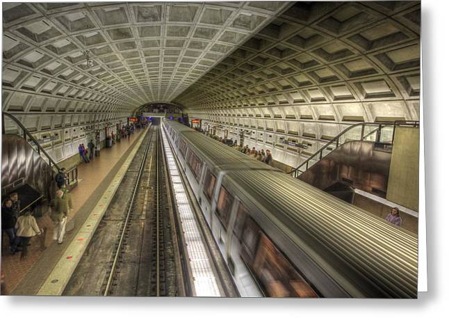 Smithsonian Metro Station Greeting Card by Shelley Neff