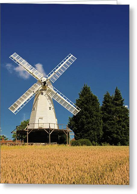Smock Mill Greeting Card by Jeremy Sage